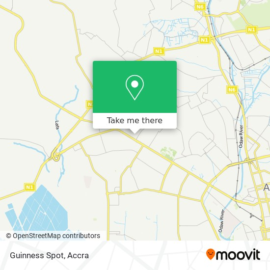 Guinness Spot map