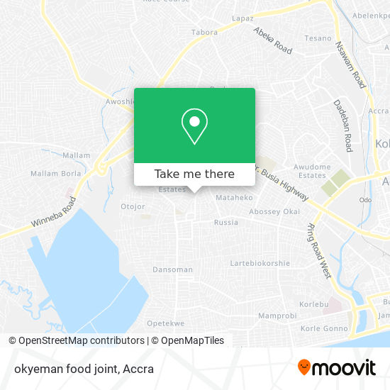 okyeman food joint map