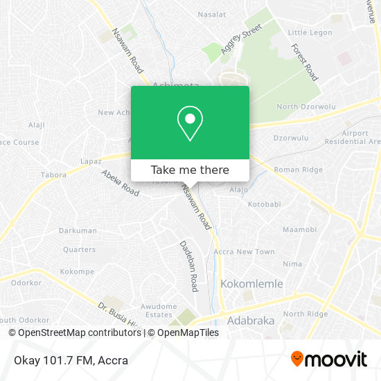 Okay 101.7 FM map