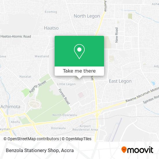 Benzola Stationery Shop map