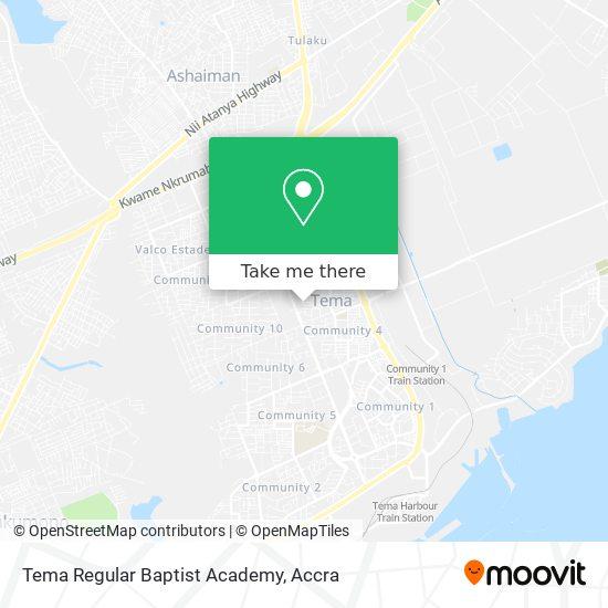 Tema Regular Baptist Academy map