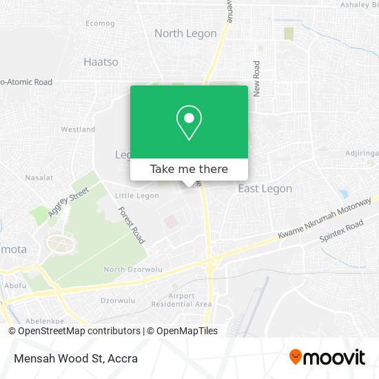 Mensah Wood St map