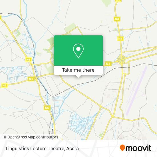 Linguistics Lecture Theatre map