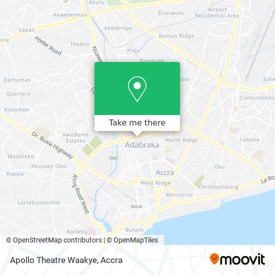 Apollo Theatre Waakye map
