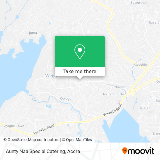 Aunty Naa Special Catering map