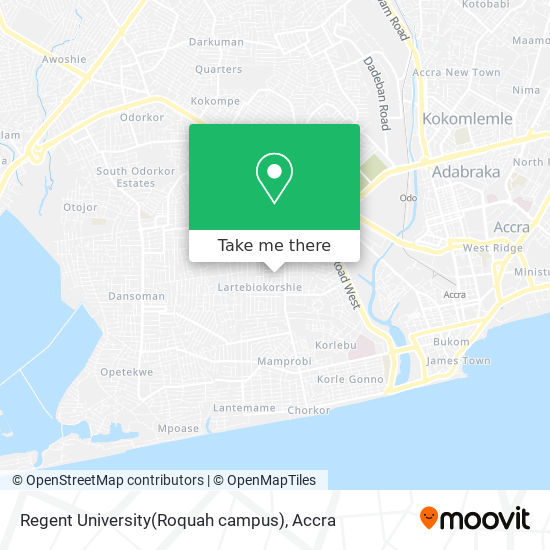 Regent University(Roquah campus) map