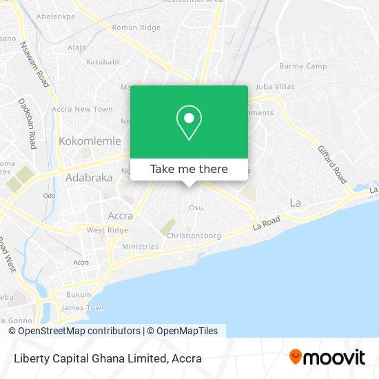 Liberty Capital Ghana Limited map