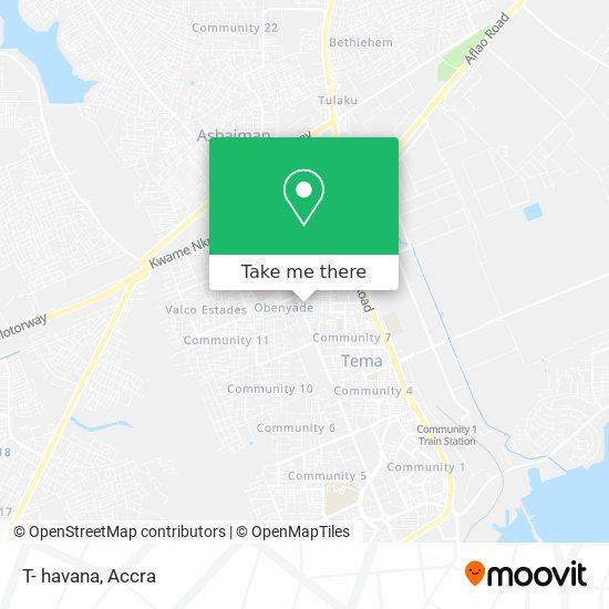 T- havana map