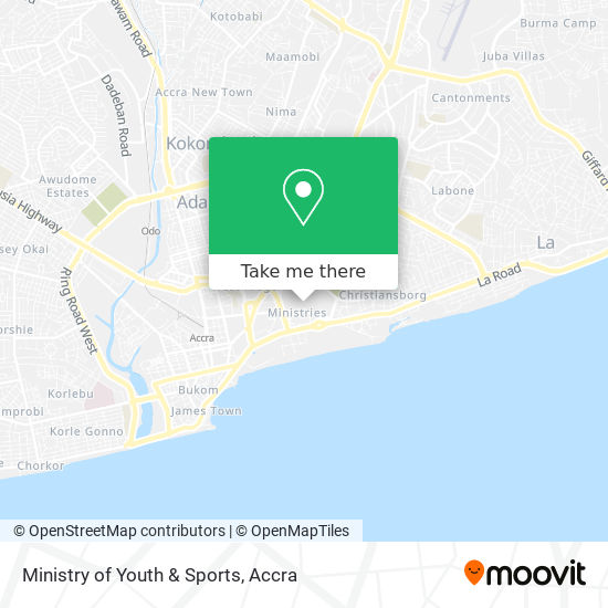 Ministry of Youth & Sports map