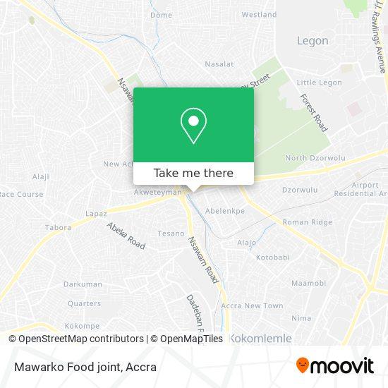 Mawarko Food joint map