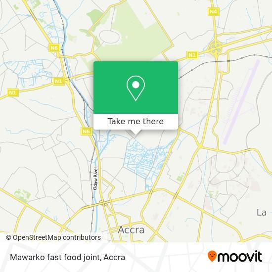 Mawarko fast food joint map