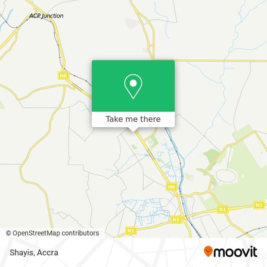 Shayis map