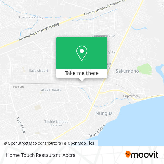 Home Touch Restaurant map