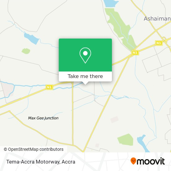 Tema-Accra Motorway map