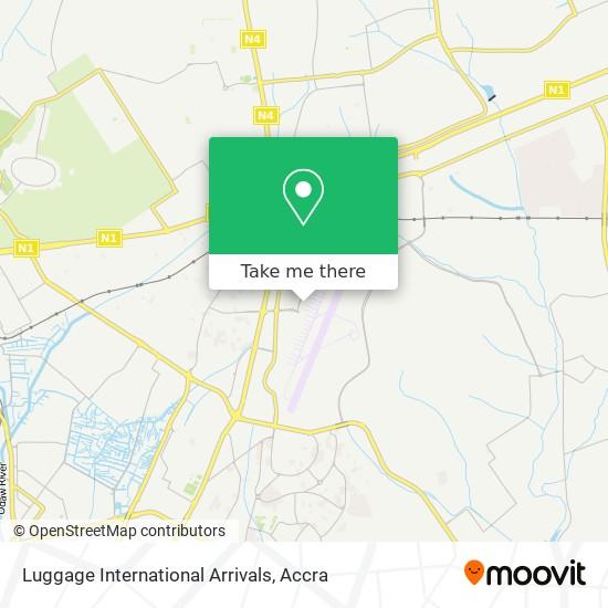 Luggage International Arrivals map
