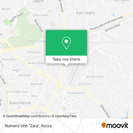 """Numero Uno """"Zara"""" map"""