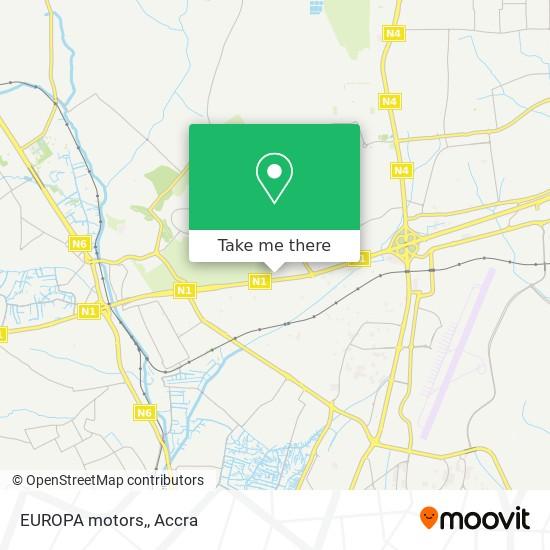EUROPA motors, map