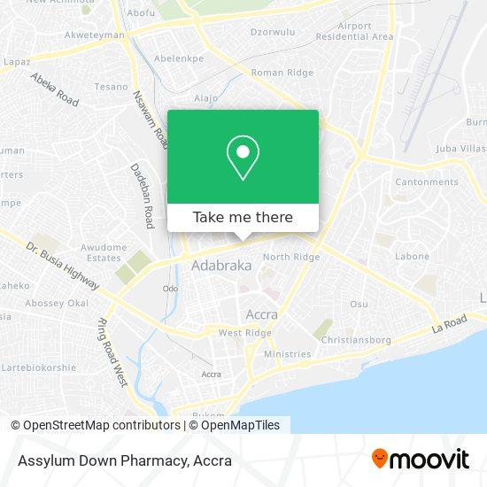 Assylum Down Pharmacy map