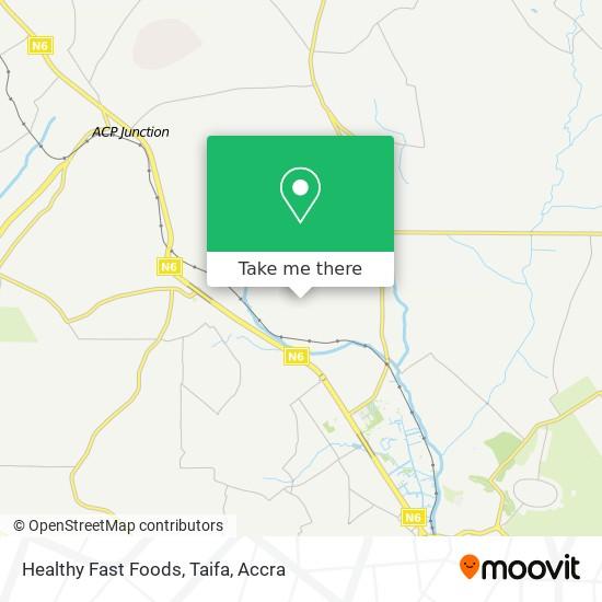 Healthy Fast Foods, Taifa map