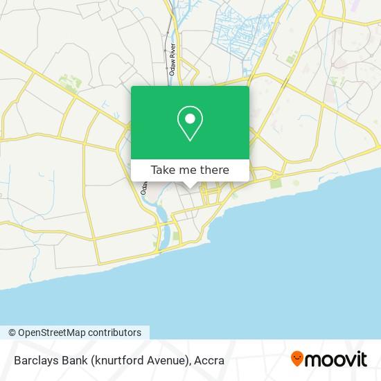 Barclays Bank (knurtford Avenue) map