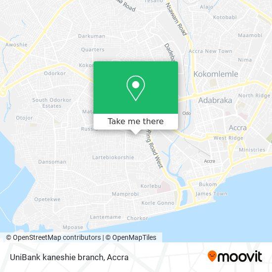 UniBank kaneshie branch map