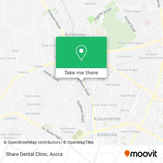 Share Dental Clinic map
