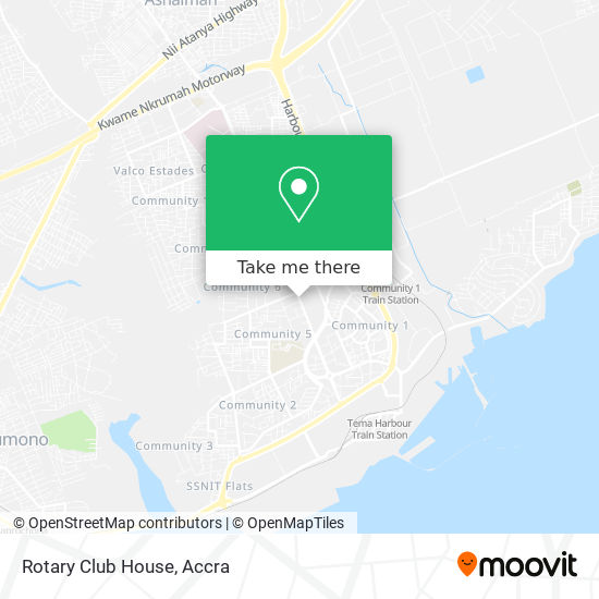 Rotary Club House map