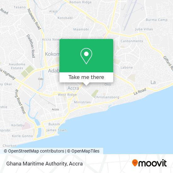 Ghana Maritime Authority map