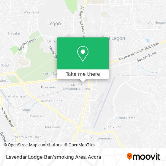 Lavendar Lodge-Bar / smoking Area map
