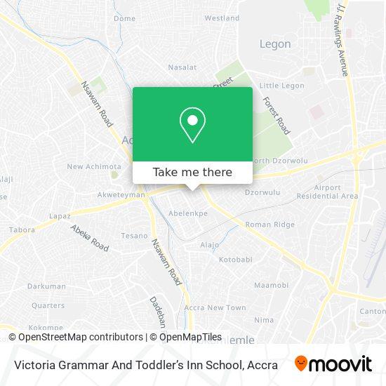 Victoria Grammar And Toddler's Inn School map
