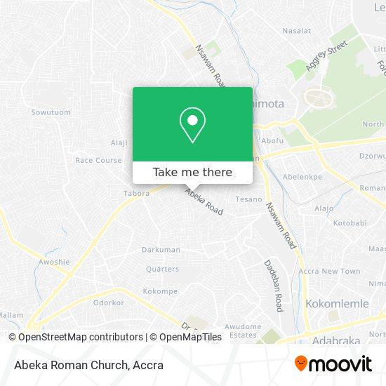 Abeka Roman Church map