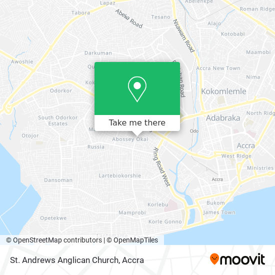 St. Andrews Anglican Church map