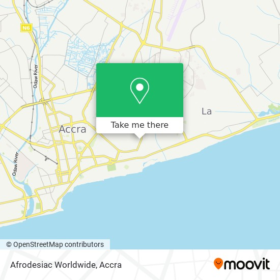 Afrodesiac Worldwide map