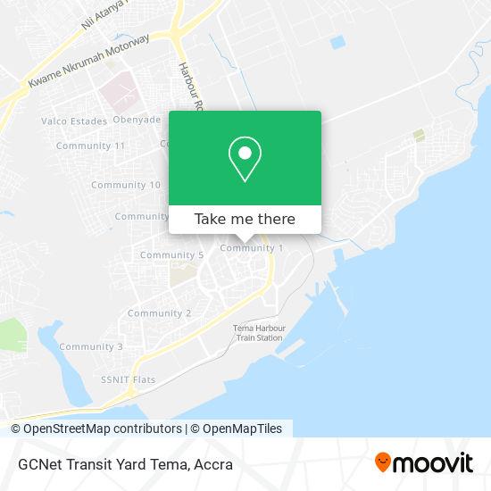 GCNet Transit Yard Tema map
