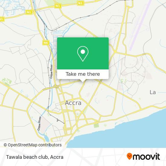 Tawala beach club map