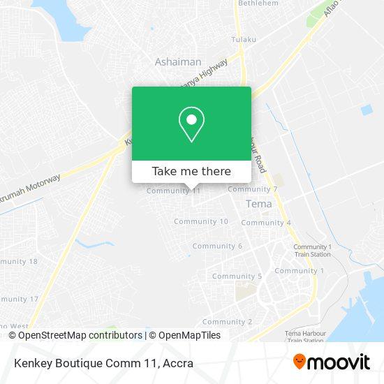 Kenkey Boutique Comm 11 map