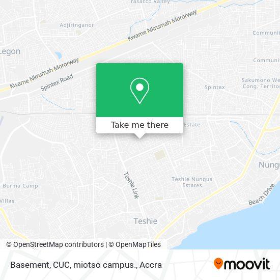 Basement, CUC, miotso campus. map