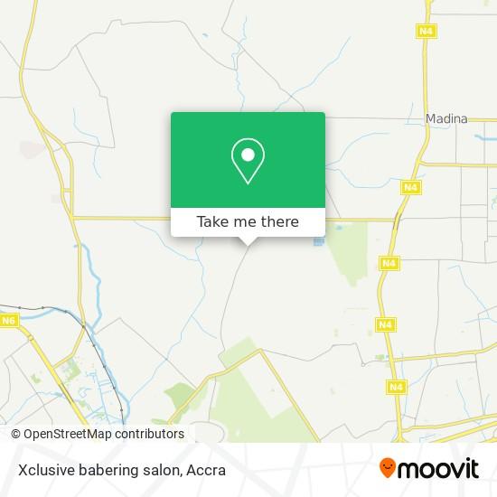 Xclusive babering salon map