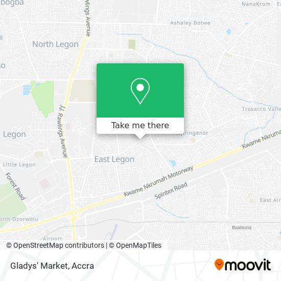 Gladys' Market map