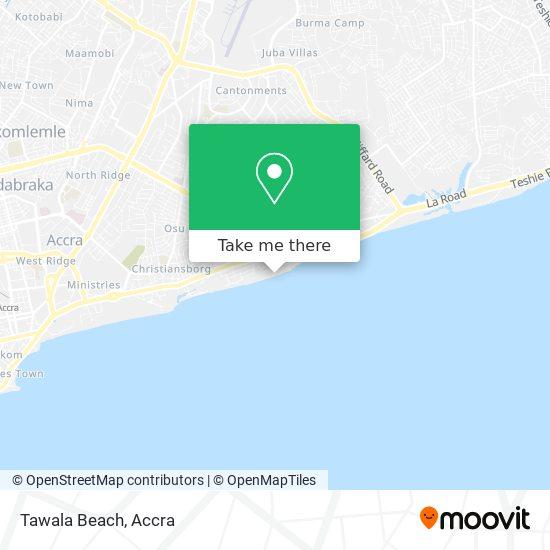 Tawala Beach map