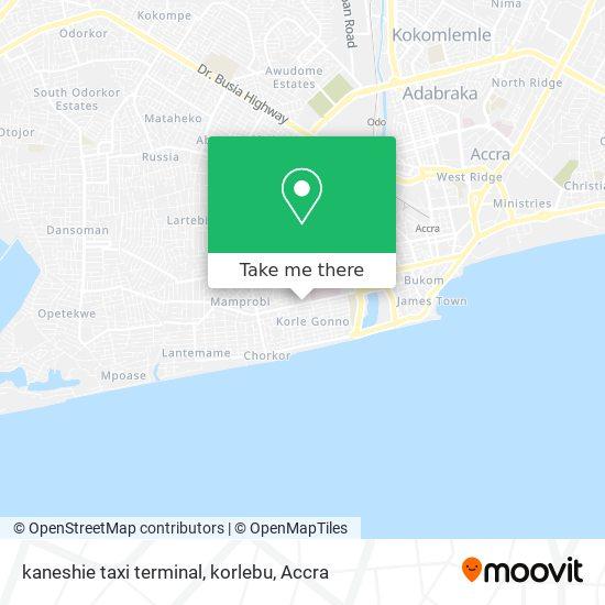 kaneshie taxi terminal, korlebu map