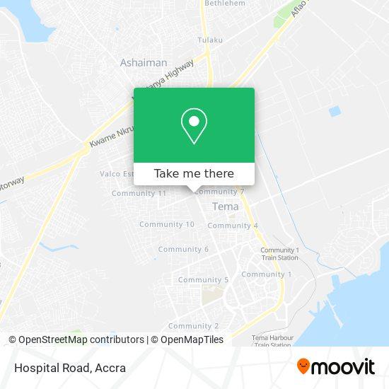 Hospital Road map