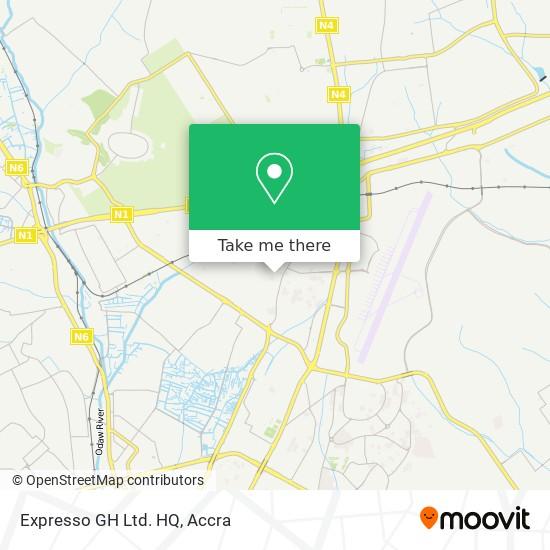 Expresso GH Ltd. HQ map