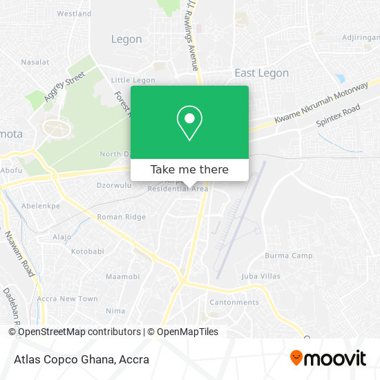Atlas Copco Ghana map