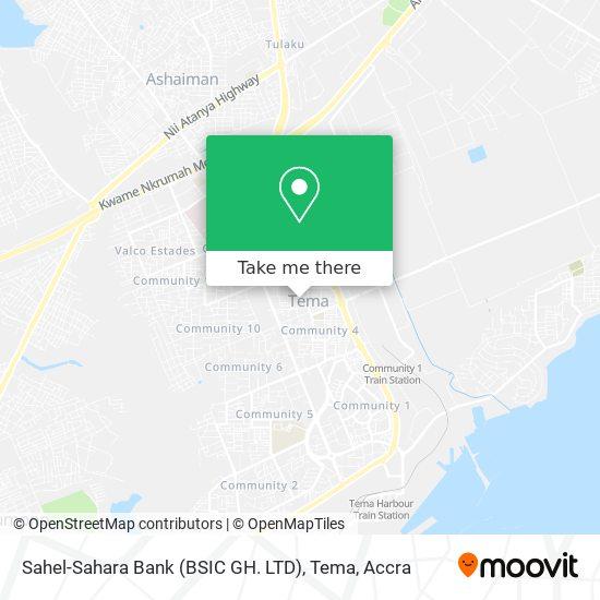 Sahel-Sahara Bank (BSIC GH. LTD), Tema map
