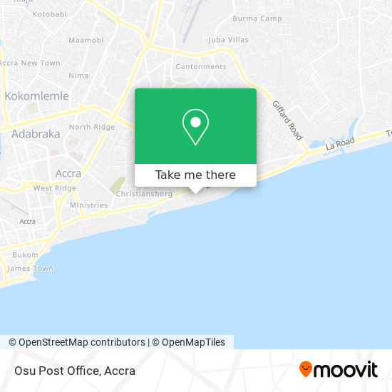 Osu Post Office map