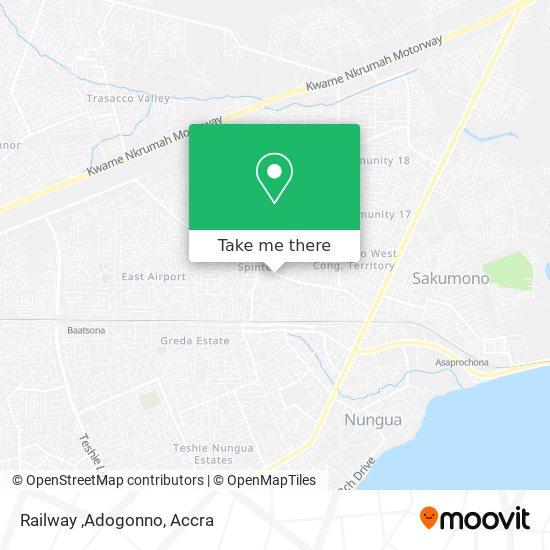 Railway ,Adogonno map