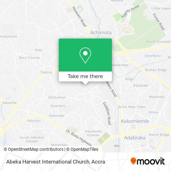 Abeka Harvest International Church map