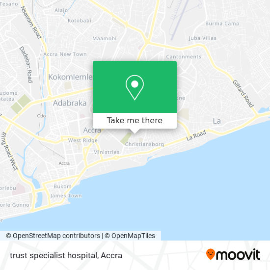 trust specialist hospital map