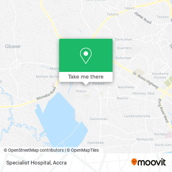 Specialist Hospital map